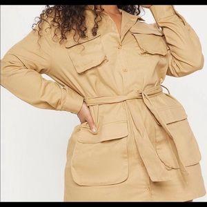 Pretty Little Things Khaki cargo dress